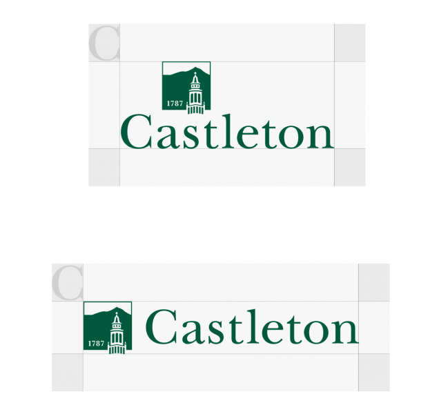 Spacing around the Castleton logo