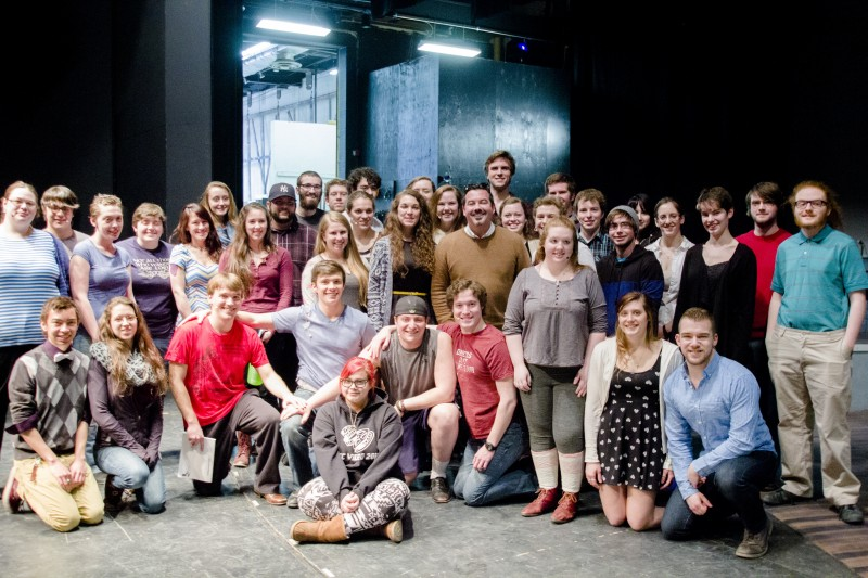 Spring Awakening cast and band with composer Duncan Sheik.