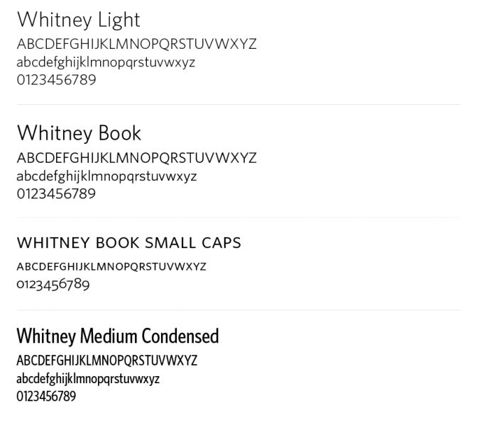 Whitney typeface