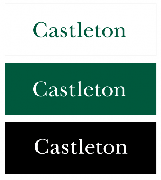 Castleton's stand-alone wordmark