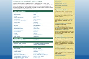 Old Academics Page