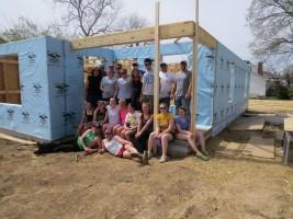 Students at a Habitat project