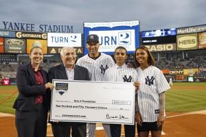 Liz Martin at Yankee Stadium