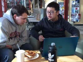 Campus Conversation Partners Studying