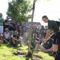 Freshmen tree planting.