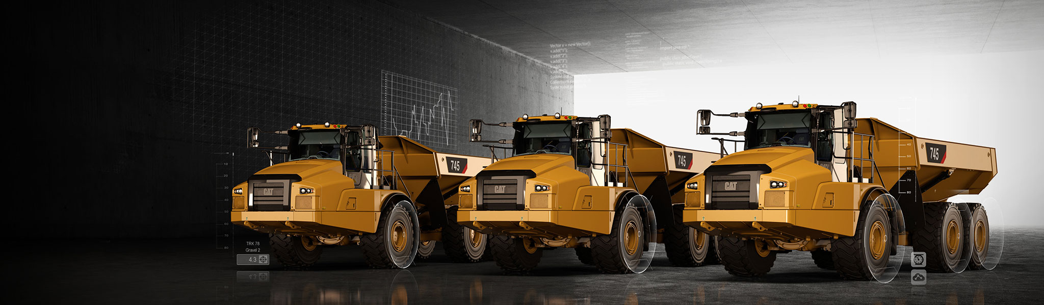 Cat All Day CAT® ARTICULATED TRUCKS: Haul MORE, Move Less