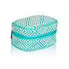 Turquoise Graphic Weave