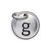 Silver Tone Initial G