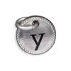 Silver Tone Initial Y