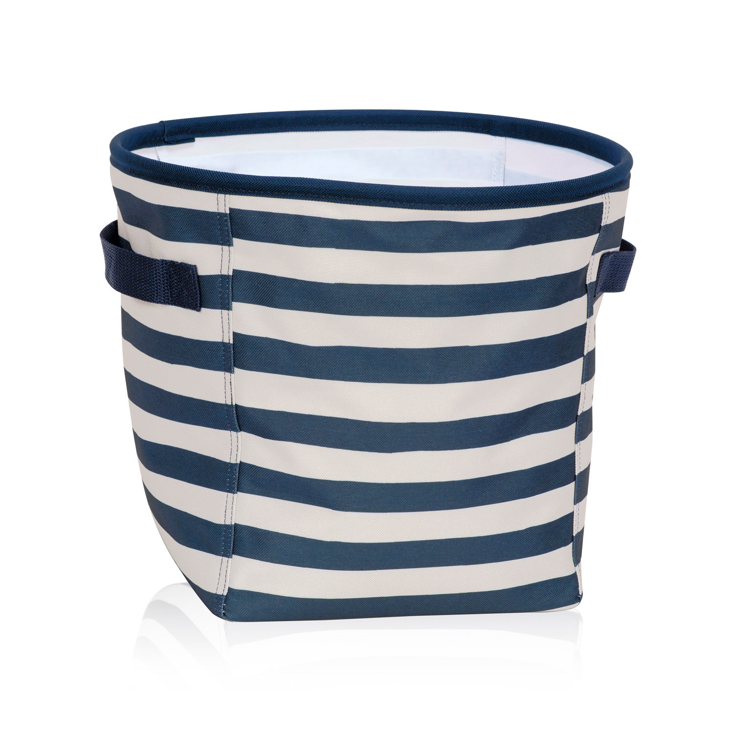 Navy Rugby Stripe Mini Storage Bin Thirty One Gifts