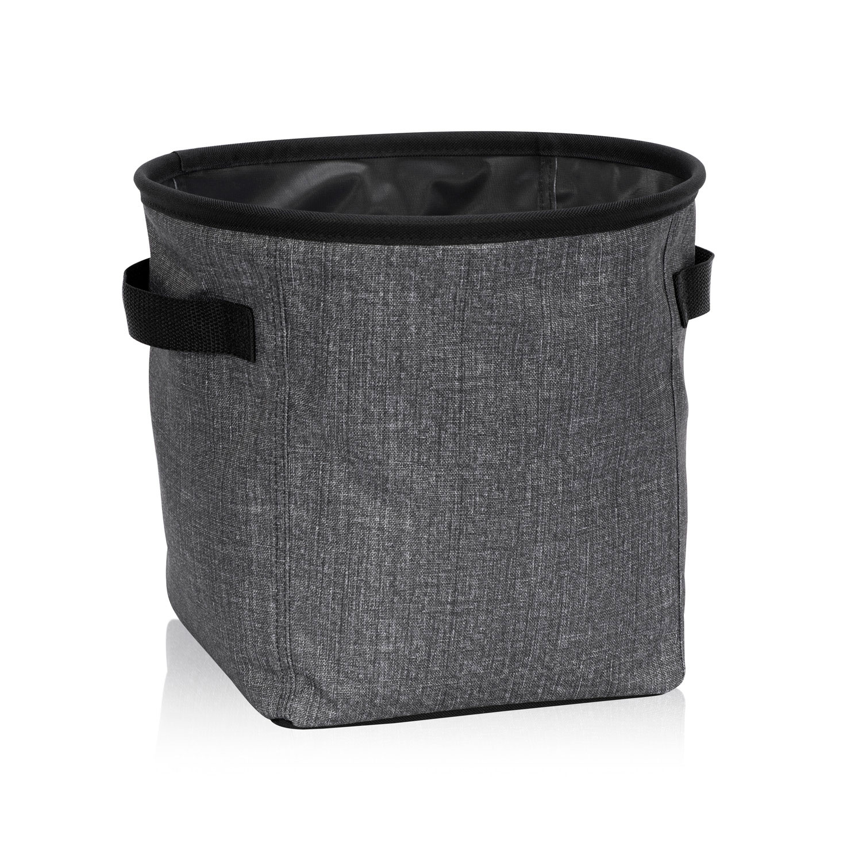 Charcoal Crosshatch Mini Storage Bin Thirty One Gifts