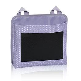 Oh-Snap Pocket - Lavender Swiss Dot w/Chalk