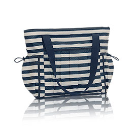 New Day Tote - Navy Rugby Stripe