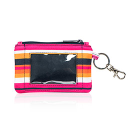 Mini Coin Purse - Pinstripe Punch