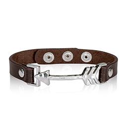 Leather Icon Bracelet - Arrow
