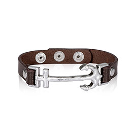 Leather Icon Bracelet