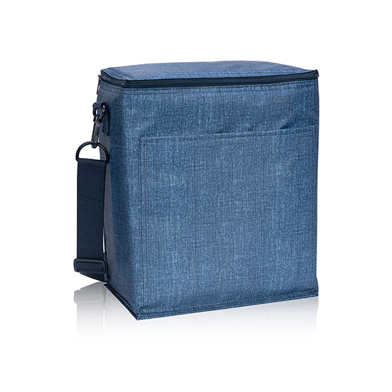 Picnic Thermal Tote - Blue Crosshatch