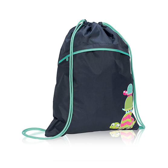 Cinch Sac - Navy w/ Topsy Turtles