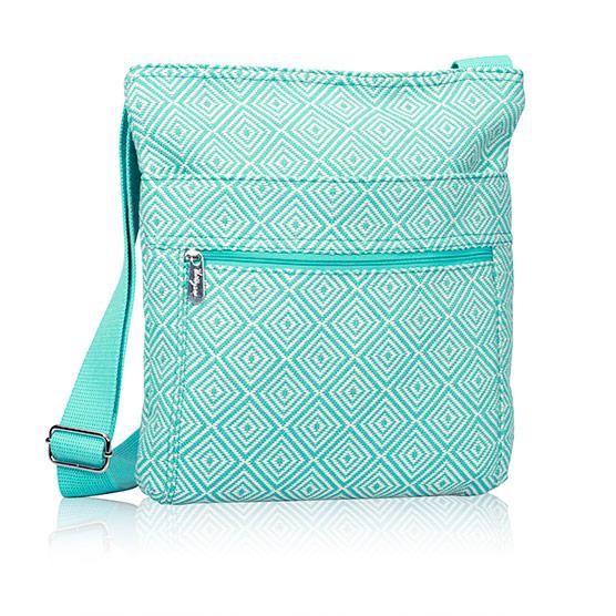 Organizing Shoulder Bag - Turquoise Graphic Weave