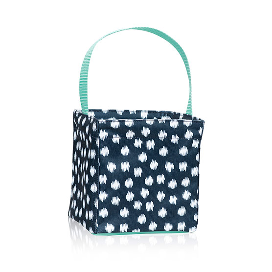 Littles Carry-All Caddy - Navy Doodle Dot