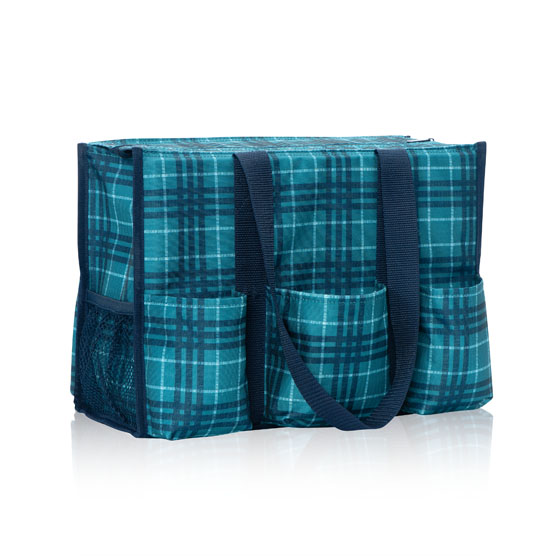 Zip-Top Organizing Utility Tote - Totally Tartan