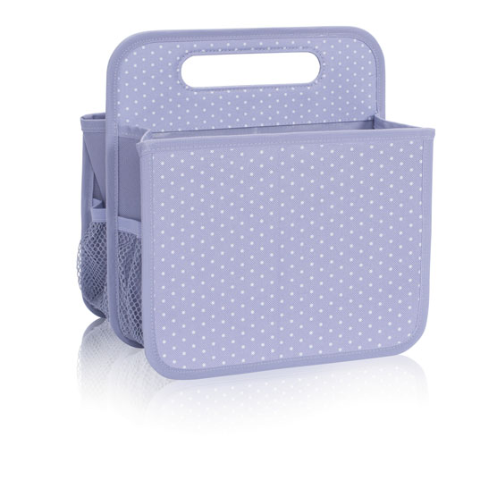 Double Duty Caddy - Lavender Swiss Dot