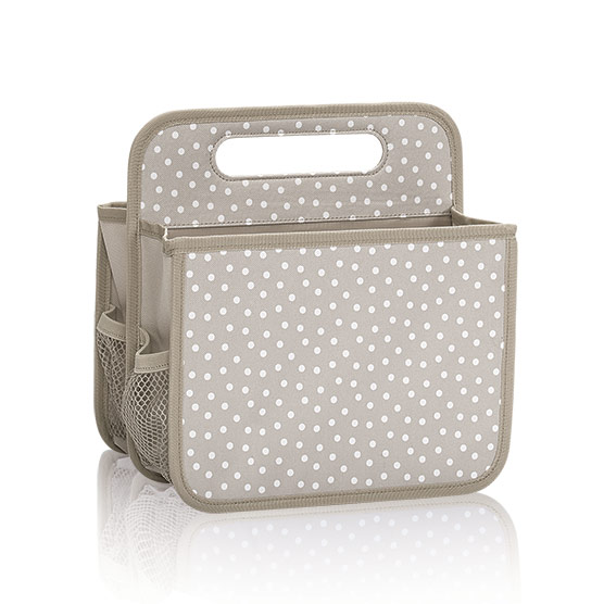 Double Duty Caddy - Taupe Dancing Dot