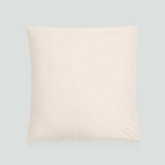Statement Canvas Pillow Cover 18x18 - Natural