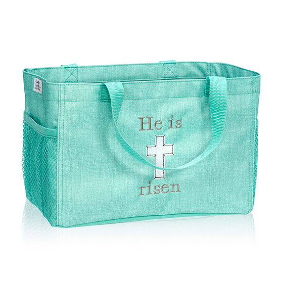 All-In Organizer - Turquoise Crosshatch
