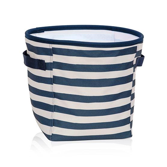 Navy Rugby Stripe Mini Storage Bin Thirty One Gifts