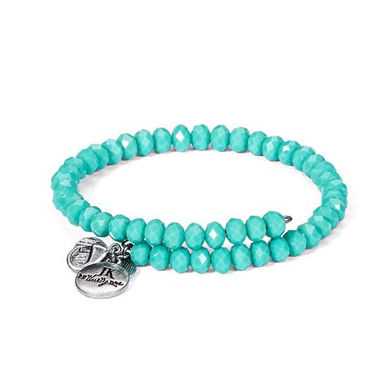 Beaded Charm Bracelet - Turquoise