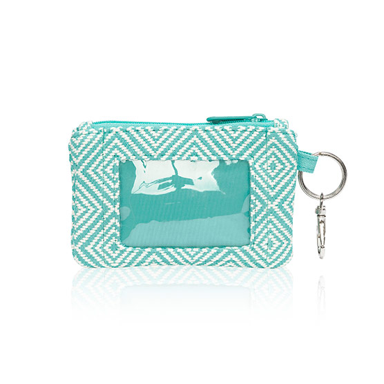 Mini Coin Purse - Turquoise Graphic Weave