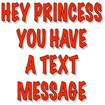 Hey Princess You Have A Text Message by Best Text Message Alert For You