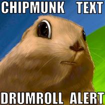 Chipmunk Text Drumroll Alert by Hi Five Ring Ring Alert Tones