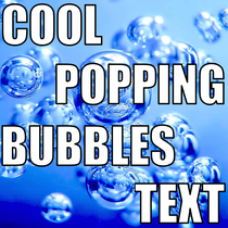 Cool Popping Bubbles Text by Hi Five Ring Ring Alert Tones
