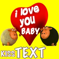 i love you baby kiss text by hi five ring ring alert tones