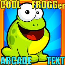 Cool Frogger Arcade Text by Freddy The Super Frog Ring