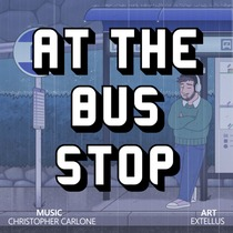 At the Bus Stop by Christopher Carlone