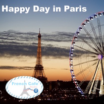 Happy Day in Paris by French Cafe 24 x 7