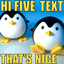 Hi Five Text That's Nice by Super Funny Ring & Text Tones