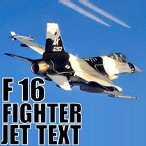 F 16 Fighter Jet Text by Super Sound Effect Alerts