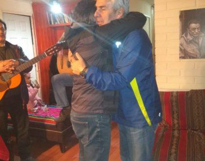 Sociedad de Varones visita a Hno. Gustavo Contreras