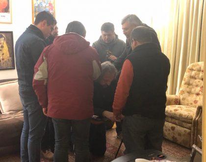 Sociedad de Varones visita al Obispo Casanova