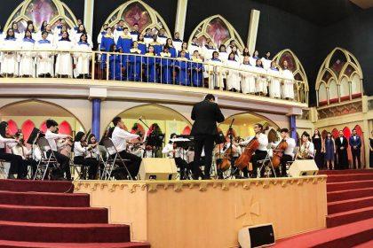 Orquesta Infantil de Venezolanos en Chile presente en el Día del Pastor 2019