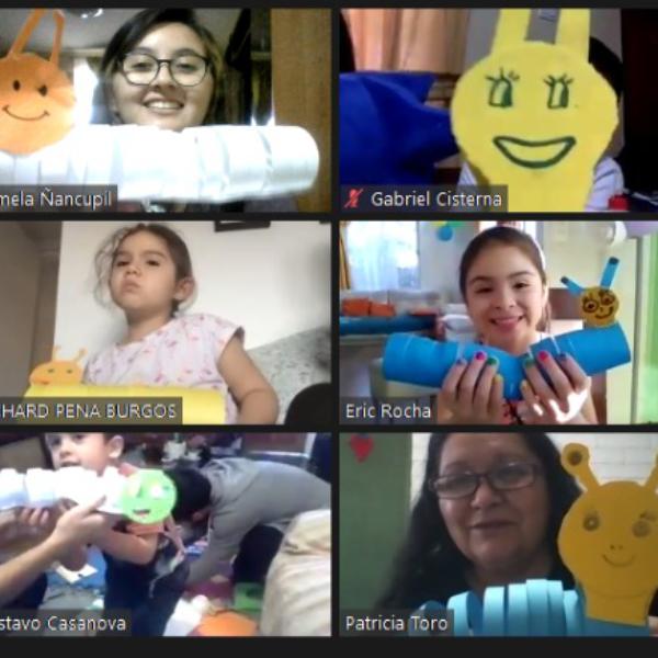 Ministerio de Niños realiza Taller de Manualidades via Zoom