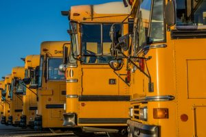 School Buses for CHS Speaks at Catholic Health Services