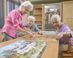 St. Joseph Assisted Living Facility Puzzle Group Night