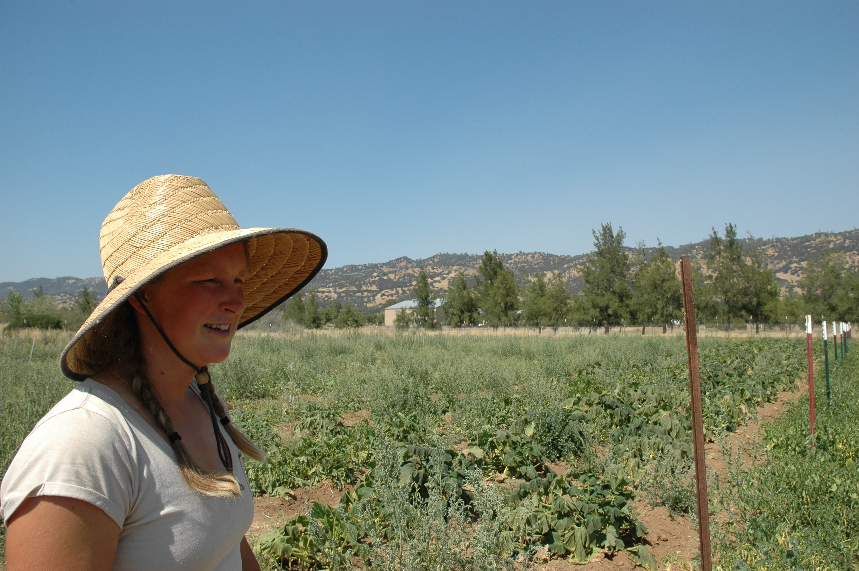 In her early 20s, Annie Hehner farms in California (photo by Elizabeth Zach)