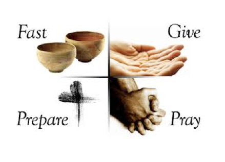 Image result for lent pray fast give prepare