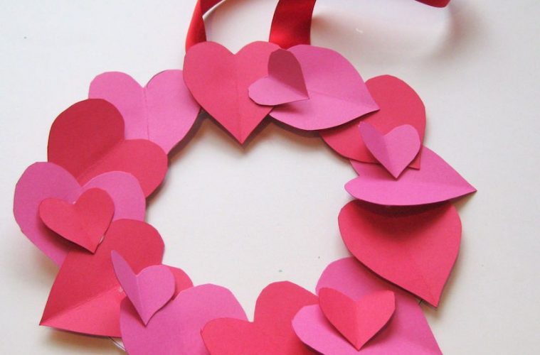Arts And Crafts Valentine S Day Wreath Catholic Teacher Resources